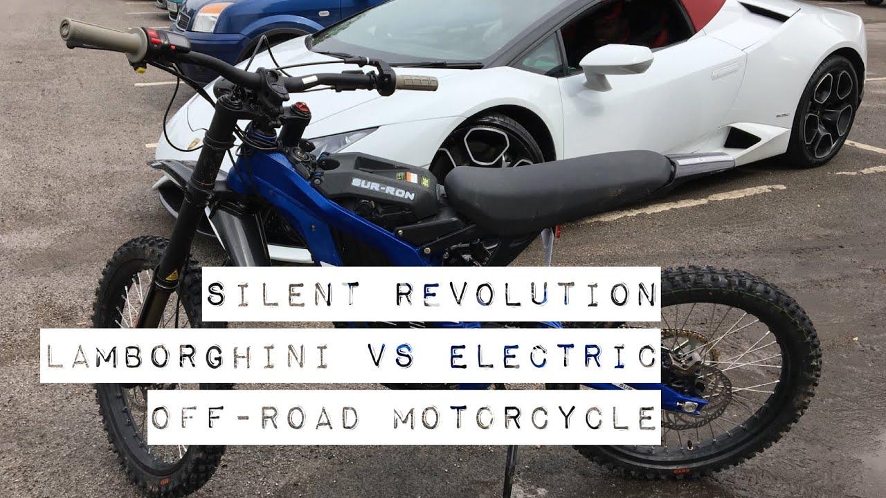 Electric Motocross Bike Vs Lamborghini Youtube