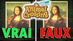 VRAI ou FAUX tableau ? Reconnaître une Contrefaçon   Animal Crossing New Horizons