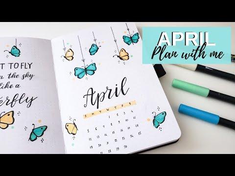 Plan With Me | April 2020 Bullet Journal Setup