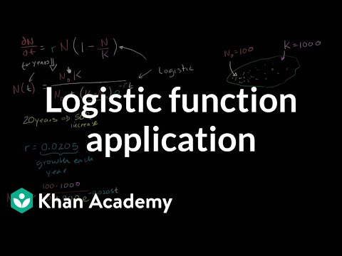 Logistic function application | First order differential equations | Khan Academy