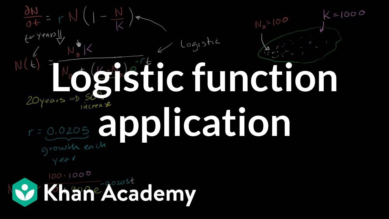 Worked example: logistic models | Differential equations