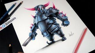 Como dibujo al PEKKA de Clash Royale y Clash of clans | How to draw Pekka