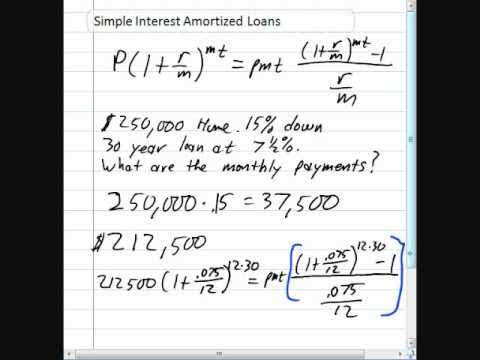 Simple Interest Amortized Loans - YouTube