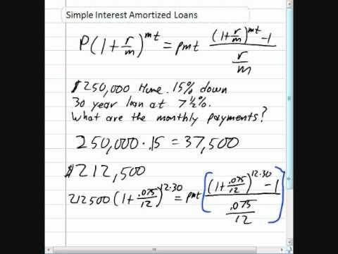 Simple Interest Amortized Loans - YouTube