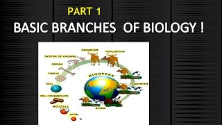 Branches of Biology Part 1 | General science for civil service exam | General knowledge