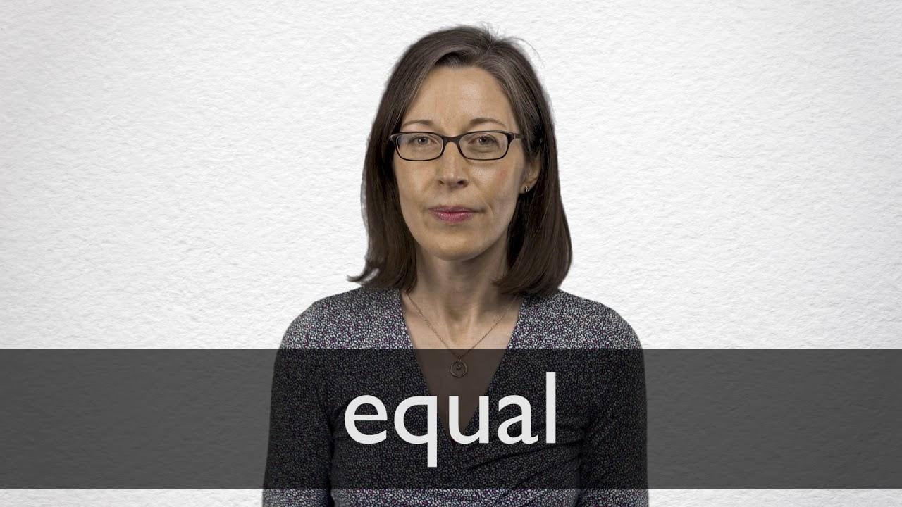 Que significa la palabra en ingles equal