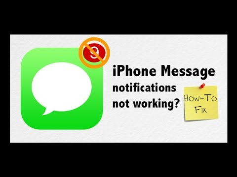 No Text or Message Notification Alerts or Sounds on iPhone