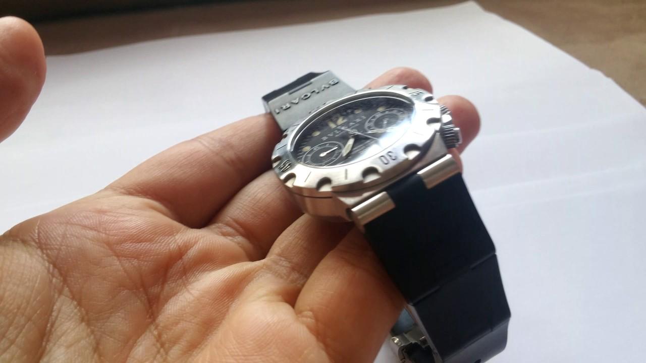 ab244882575 Relógio Bvlgari Diagono Scuba - YouTube