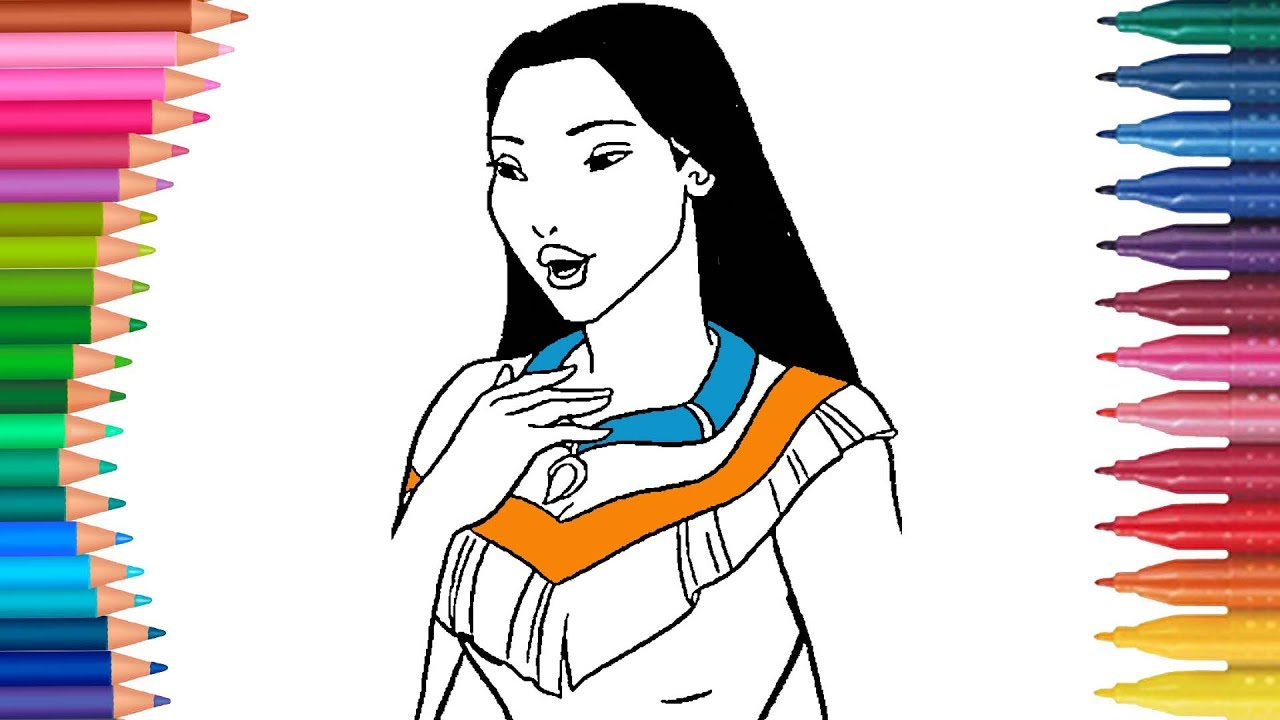 Pocahontas Coloring Page | Little Hands Coloring Book I Toddlers ...