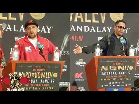 (DRAMA!) WARD & KOVALEV GO AT IT!!ENTIRE POST FIGHT PRESS CONFERENCE