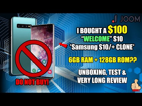 iwish:-$100-welcome-s10-(samsung-galaxy-s10/+-clone)-unboxing-&-review---do-not-buy-this!