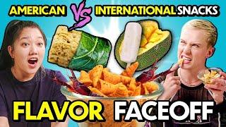Caviar Flavored Bugles?! Trying American vs. International Snacks