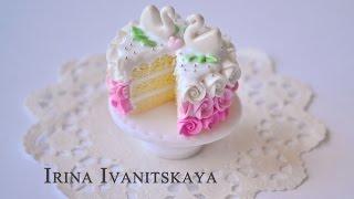 Свадебный торт- ПОЛИМЕРНАЯ ГЛИНА - мастер класс. Irina Ivanitskaya(, 2014-06-04T16:33:17.000Z)