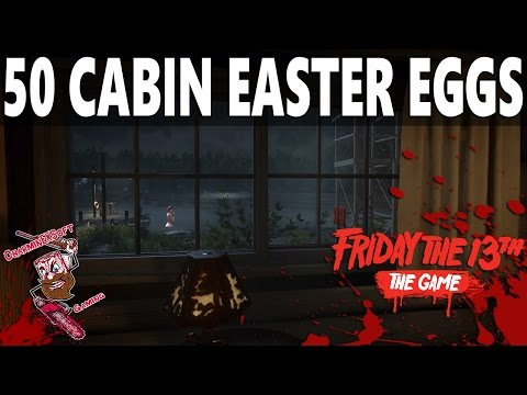 Friday the 13th: The Game | 50 EASTER EGGS Virtual Cabin Walkthrough