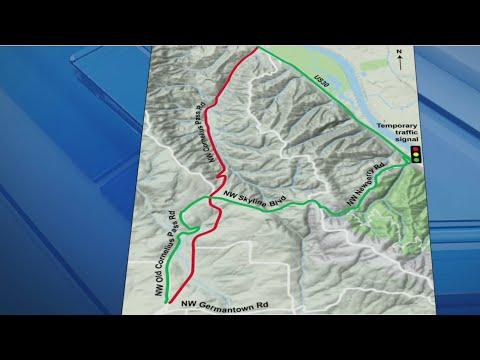 Cornelius Pass Road improvements begin, road closed for miles