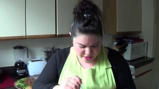 Homecookin Thai Red Chicken Curry Pt.2-cucumber Carrot Salad & Thai Basil Turkey Sausage (larb)