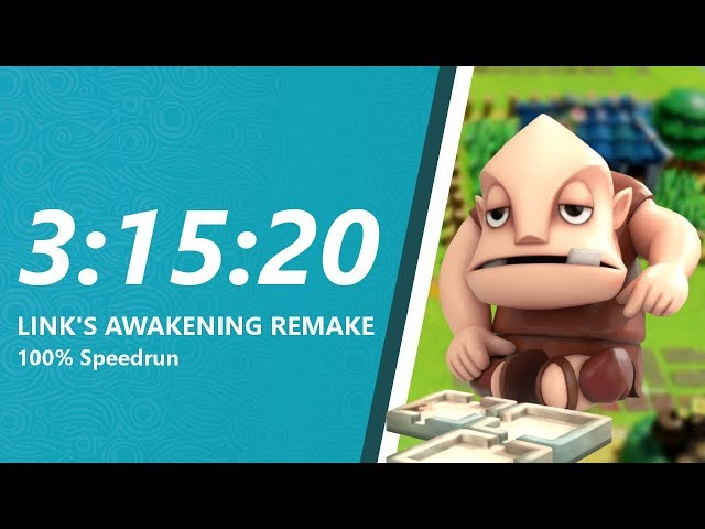 Link's Awakening Remake 100% Speedrun in 3:15:20
