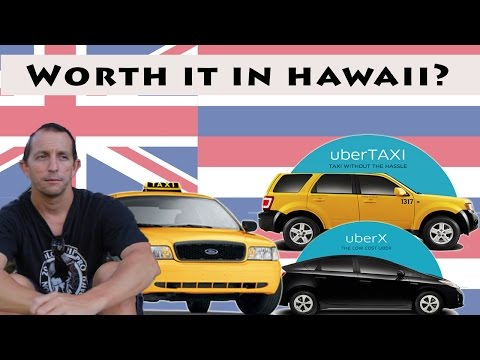 Working in Hawaii:  Driving a taxi or driving for Uber in Honolulu.