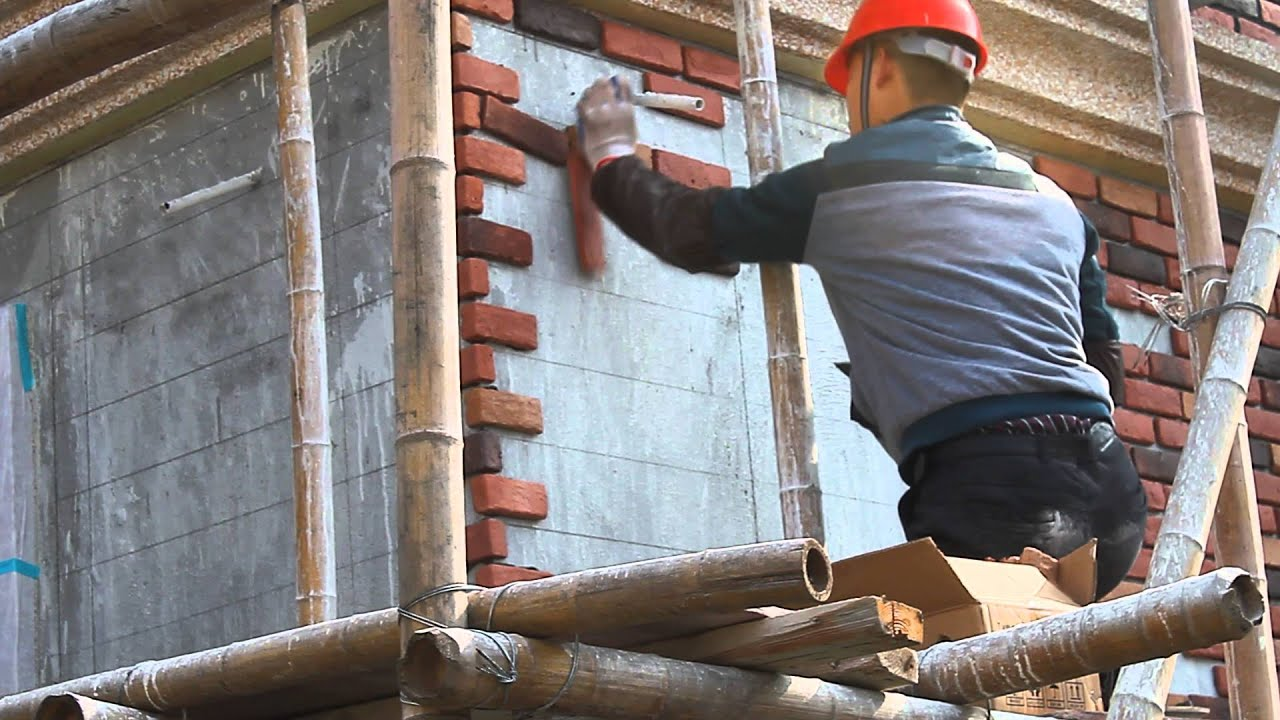 Navilla face brick veneer installation youtube for How to install stone veneer over exterior brick
