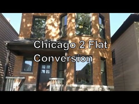 Chicago 2 Flat Converted To Single Family Home From Start To Finish Video