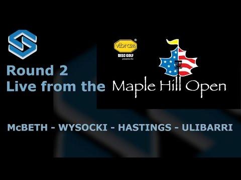 2015 Maple Hill Open - Round 2 - Paul McBeth, Ricky Wysocki, Dan Hastings, Paul Ulibarri