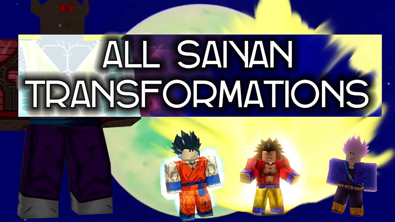 All Saiyan Transformations in Dragon Ball Infinity Saga | Roblox by  XXXSUPREME