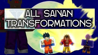 All Saiyan Transformations in Dragon Ball Infinity Saga | Roblox