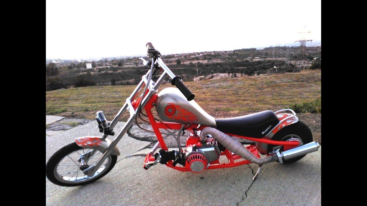 Custom Mini Chopper Pocket Bike 47cc Razor Conversion