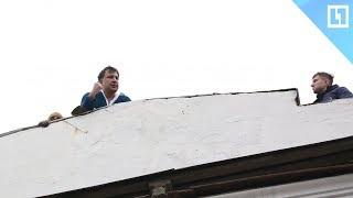 Михаил «Карлсон» Саакашвили и его приключения на крыше