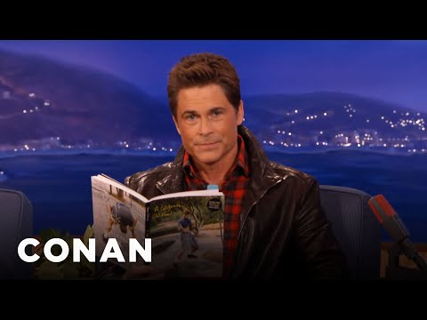 Rob Lowe's Reads James Franco's Poetry  - CONAN on TBS