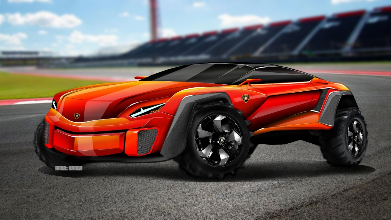 2017 Lamborghini Suv Concept Speed Drawing Youtube