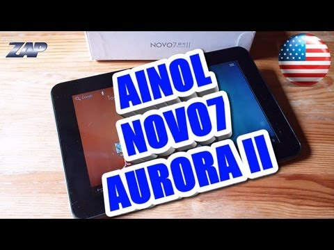 Ainol Novo7 Aurora II 2 - Dual Core Tablet Review Test - Android ICS - IPS - Merimobiles ColonelZap