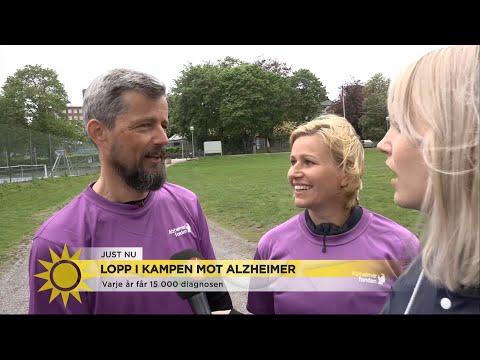 """Mikael och Karin Hessle ska springa Alzheimerloppet: """"Bra med pulshöjande trän… - Nyhetsmorgon TV4"""