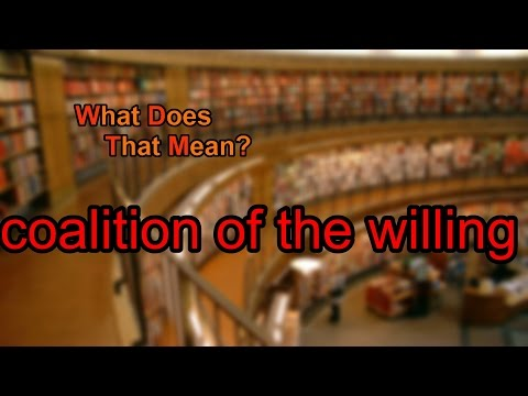 What does coalition of the willing mean?