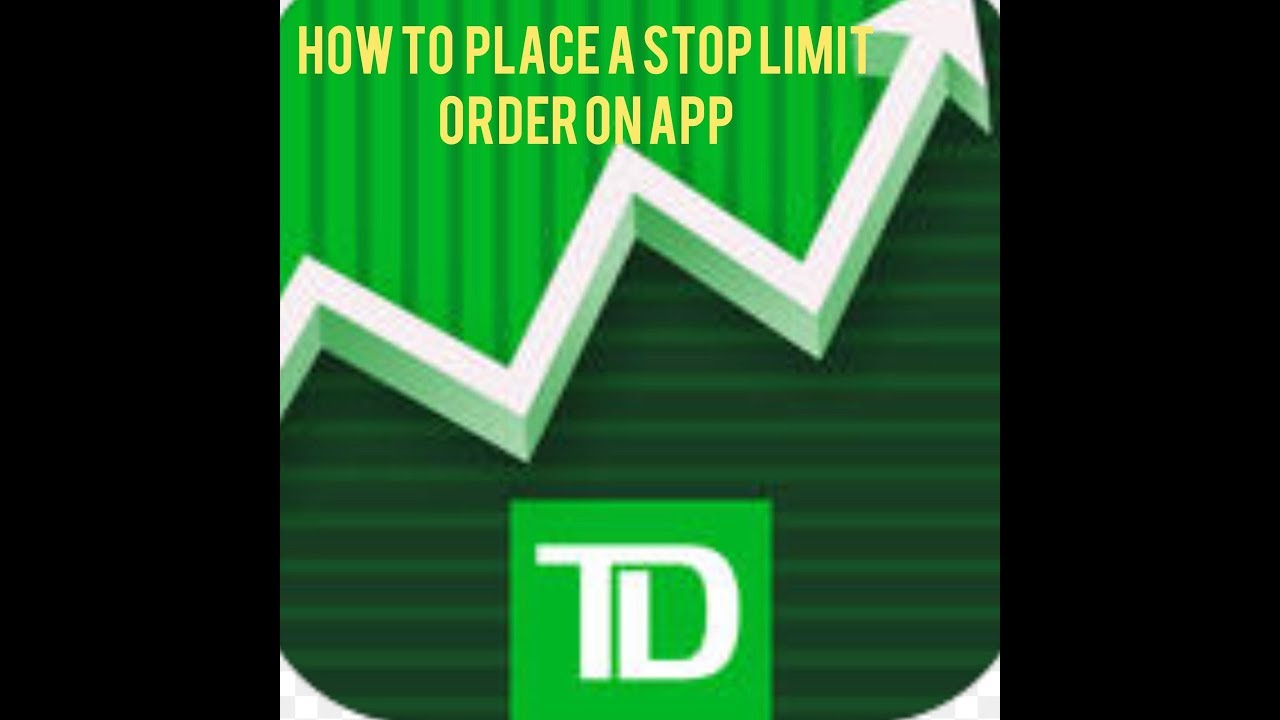 How to place a Stop Limit order w/ TD Ameritrade APP(2 min)