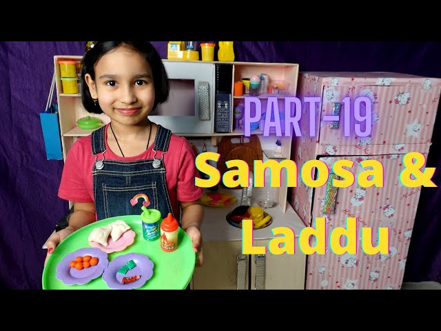 Cooking game in Hindi Part-19 | Samosa and Laddu preparation | #LearnWithPari