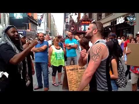 A.O.C. Israelites First Captain Chaazaq Rawchaa Brings Fire To Times Square \u0026 Old Heckling Hag
