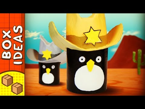 DIY Penguin Cowboy Hat | Craft Ideas For Kids | Box Ideas
