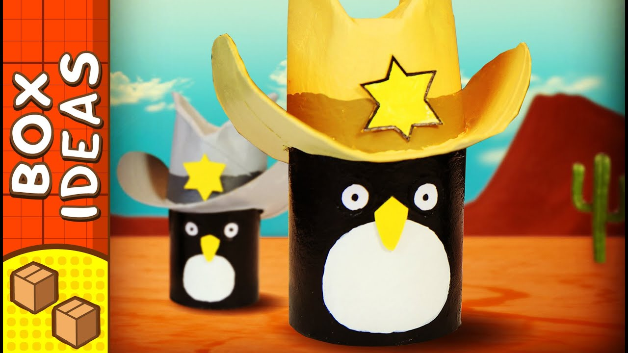 DIY Penguin Cowboy Hat