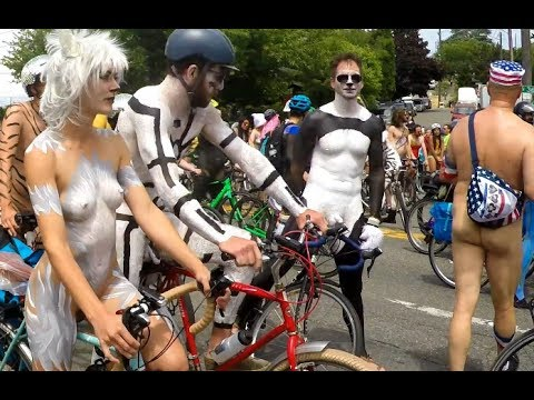 Naked Bicyclists - Fremont Solstice Parade 2017