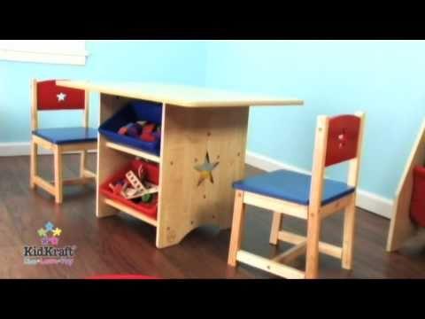 juego de mesa con sillas de estrellas para ni os en