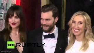 Jamie Dornan, Dakota Johnson & Sam Taylor-Johnson At Berlinale Red Carpet