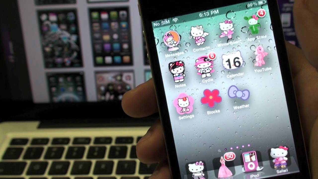 How to download Hello Kitty themes for iPhone/iPod - YouTube