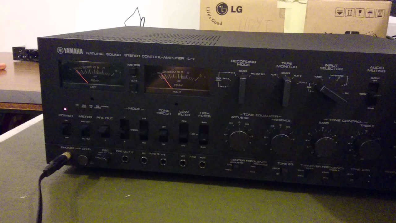 Preamplifier  Stereo Control Amplifier  Yamaha C-1