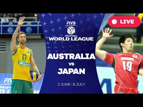 Resultado de imagem para Australia vs Japan - Group 2: 2017 FIVB Volleyball World League