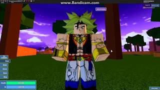 Showcasing mui and fusion in dragon ball burst roblox