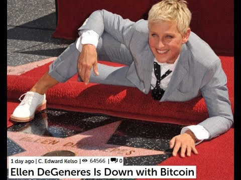 SUNDAY LIVE CONVERSATION - Ellen DeGeneres Is Down with Bitcoin