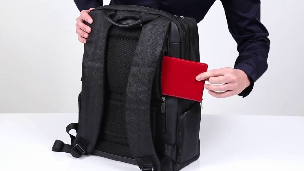 8165 Laptop business backpack - YouTube