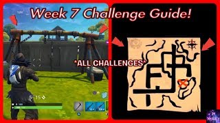 WEEK 7 CHALLENGES GUIDE! | Treasure Map, Soccer Pitch Locations & More! Fortnite Battle Royale