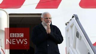Indian PM Narendra Modi arrives in UK - BBC News